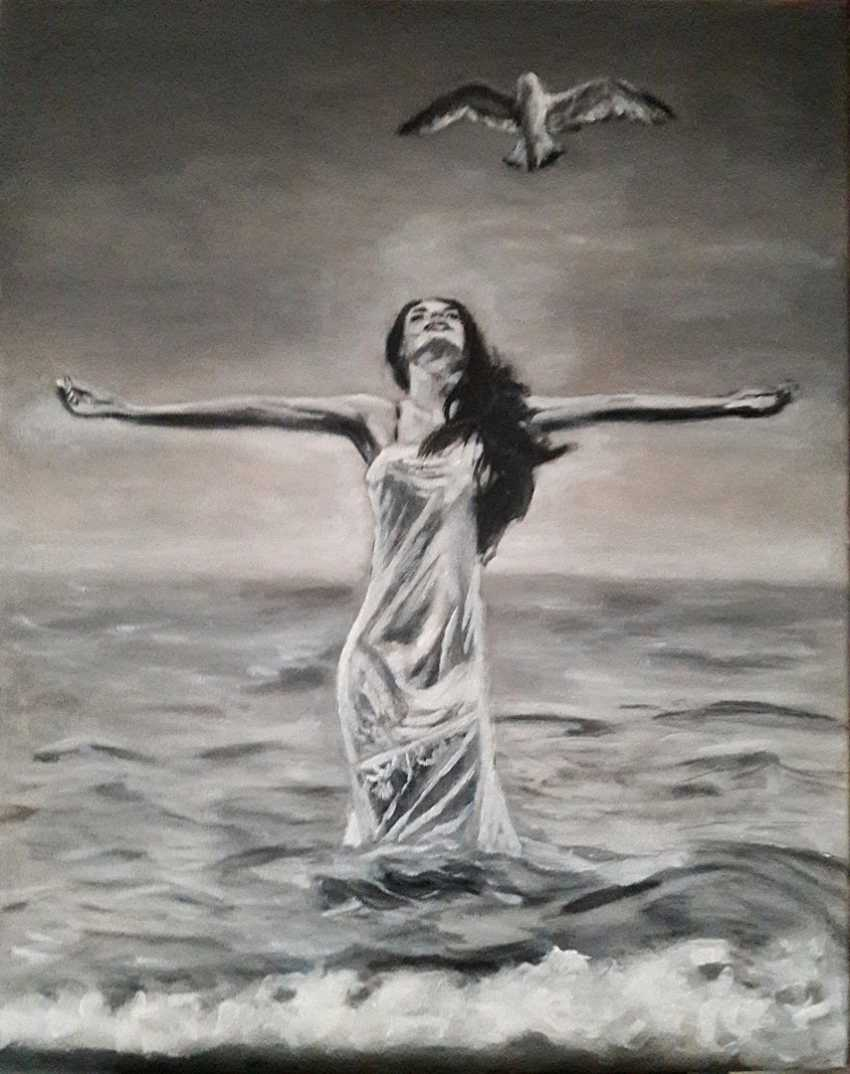 Svitlana Antonova. Girl and Seagull - photo 1