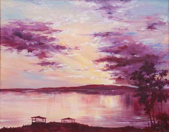Galina Kolomenskaya. Evening on the lake - photo 1