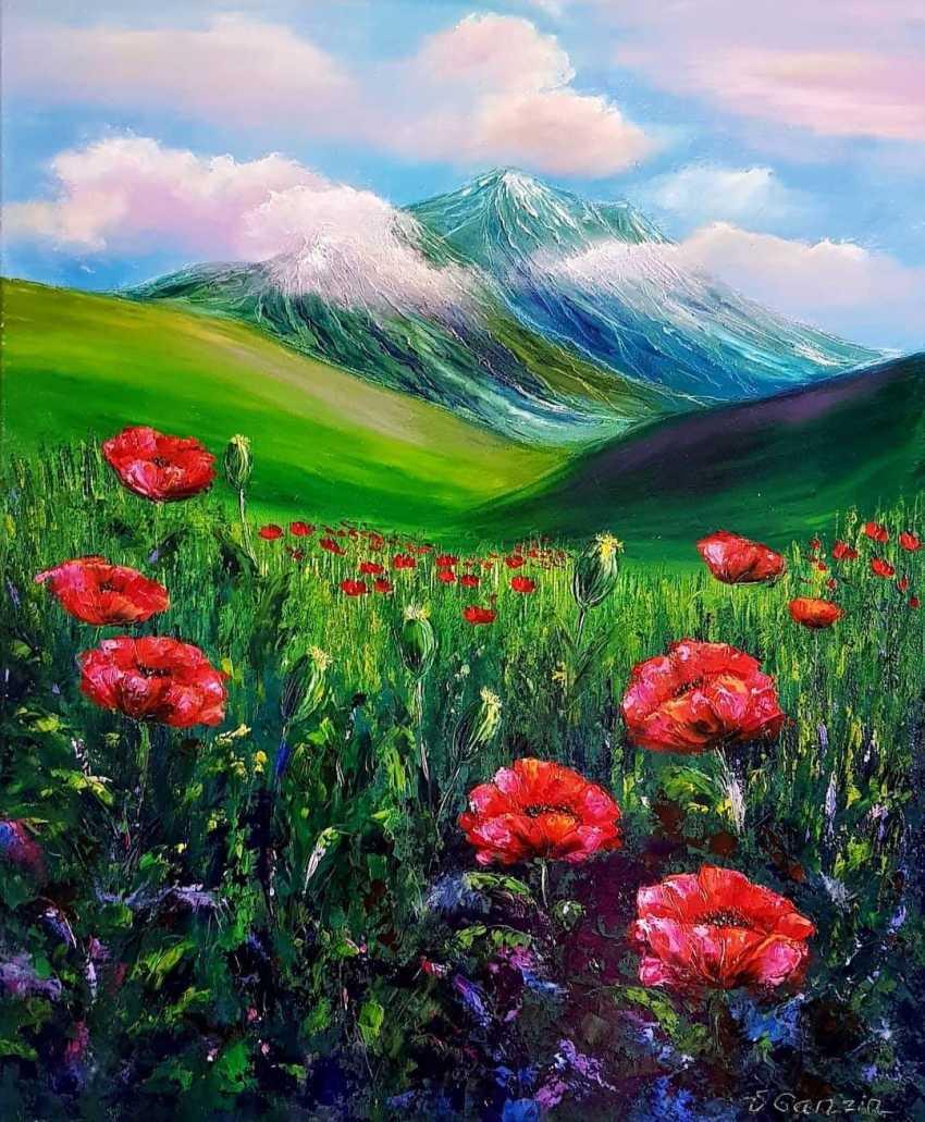 Victoria BEKO. Landscape with poppies. - photo 1