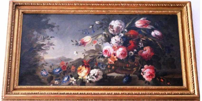 "The painting "" LANDSCAPE WITH FLOWERS""C. 18V - photo 2"