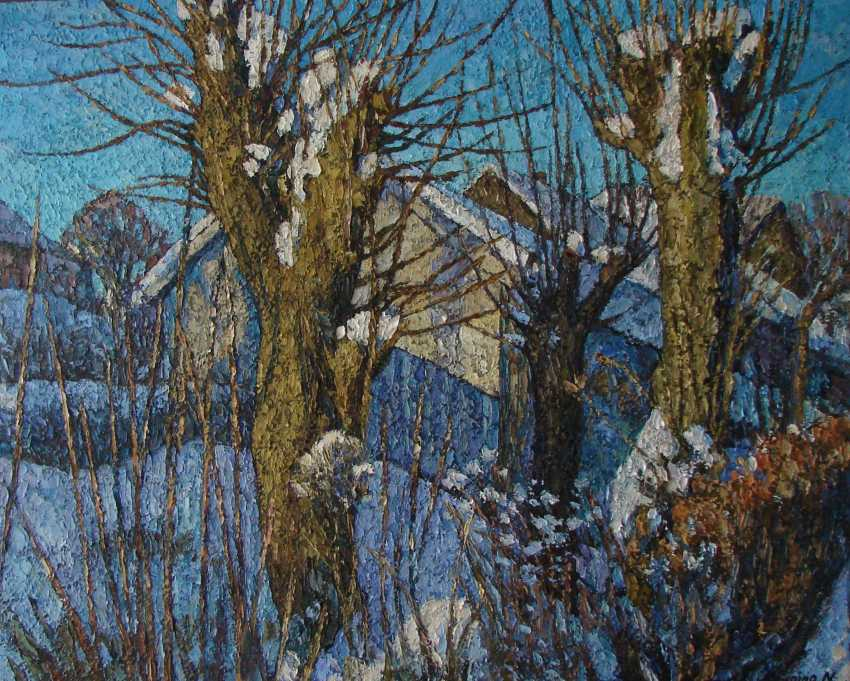 """Nadezda Stupina. Series Winter shadows """"In the rays of the sun"""" - photo 1"""
