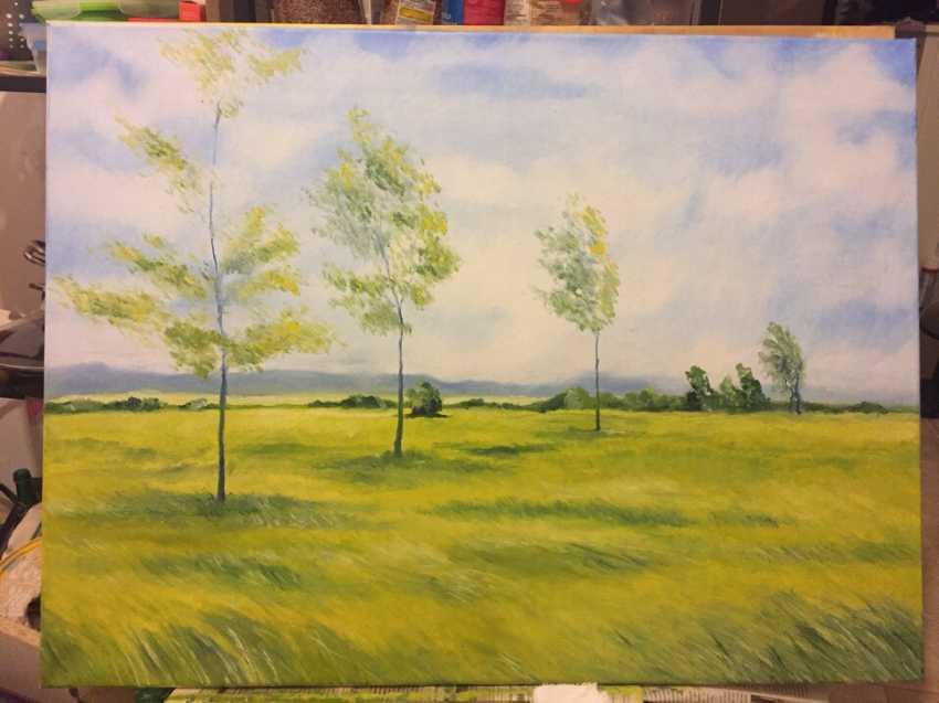 Antonina Zaharova. Landscape, summer, wind - photo 1
