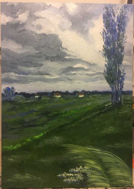 Antonina Zaharova. Landscape , the Village after the rain - photo 1