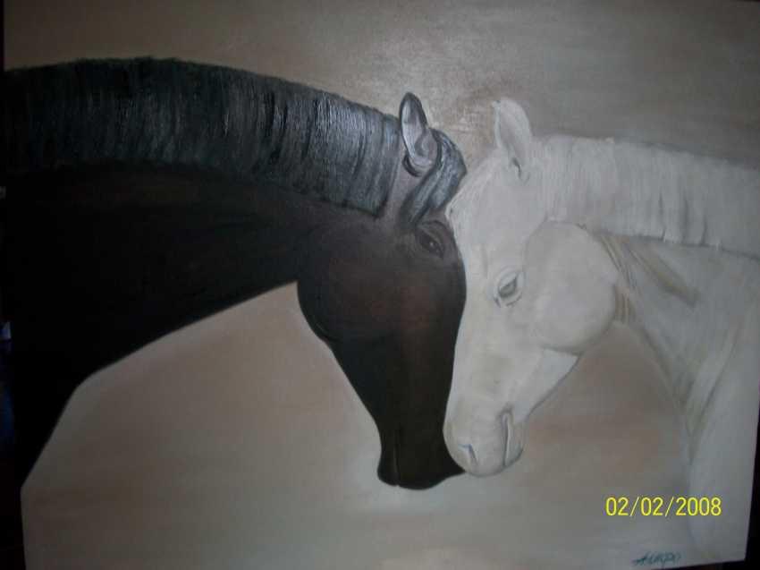 "Alla \almoro\ Morozova. ""MEETING.HORSES-1"" - photo 1"