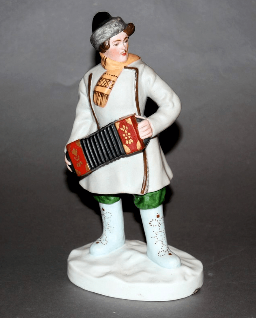 "Figurine ""Accordion"" Dmitrovskaya porcelain factory , 1930 - ies - photo 1"