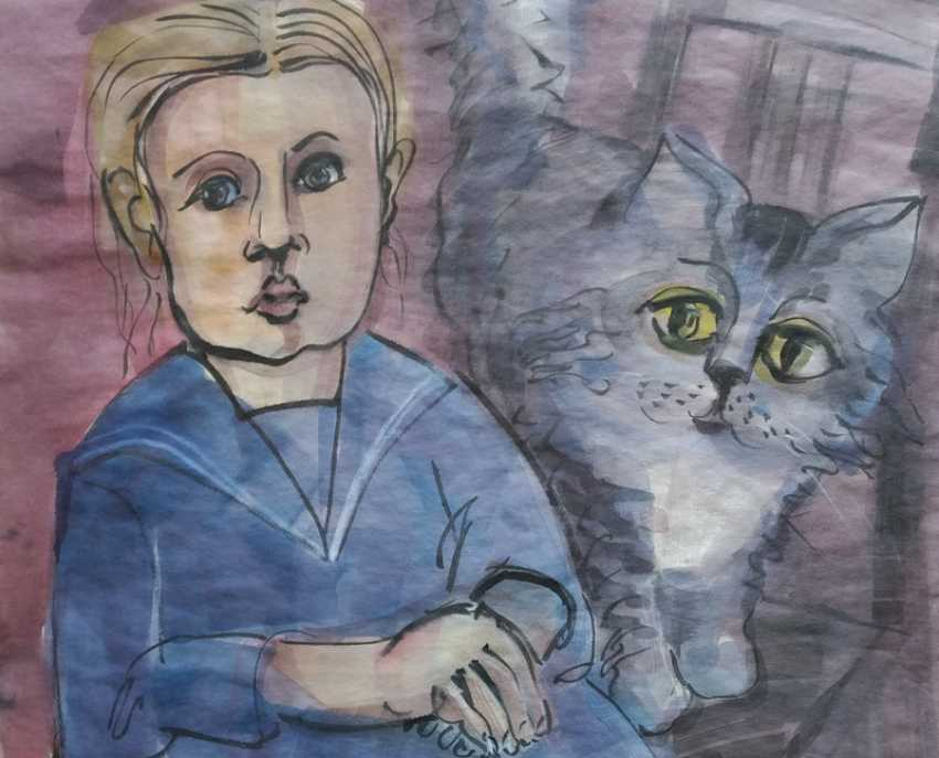 Alexandra Pretro. The girl and the cat - photo 1