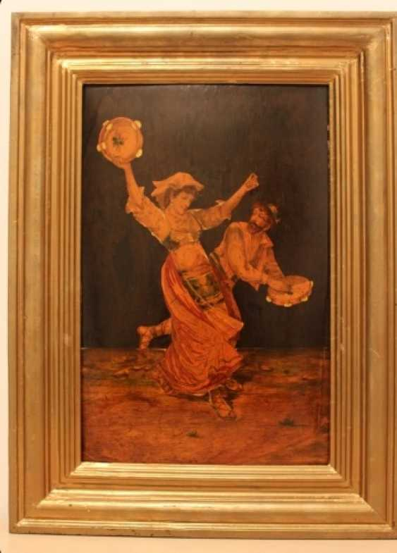 """The painting """"a Gypsy dance with tambourines"""" - photo 1"""