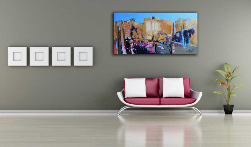 Henadzy Havartsou. IT mind (Diptych, 2 parts 70 * 70 cm) - photo 4