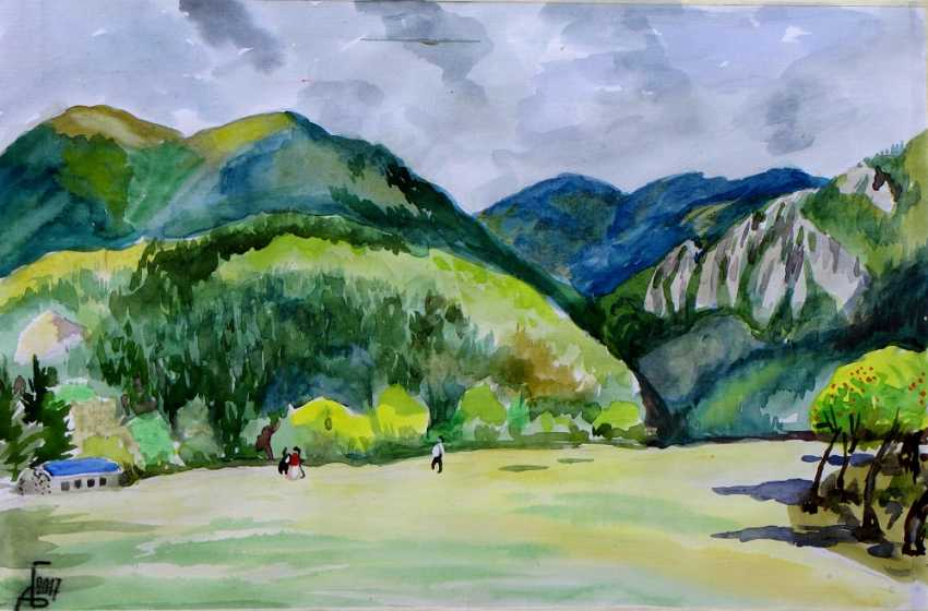 "Andrey Bulatov. Watercolor ""The Balkans"" - photo 1"