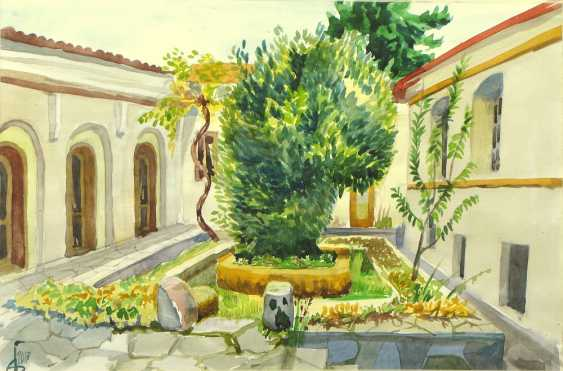 "Andrey Bulatov. Watercolor ""nunnery, courtyard"" - photo 1"