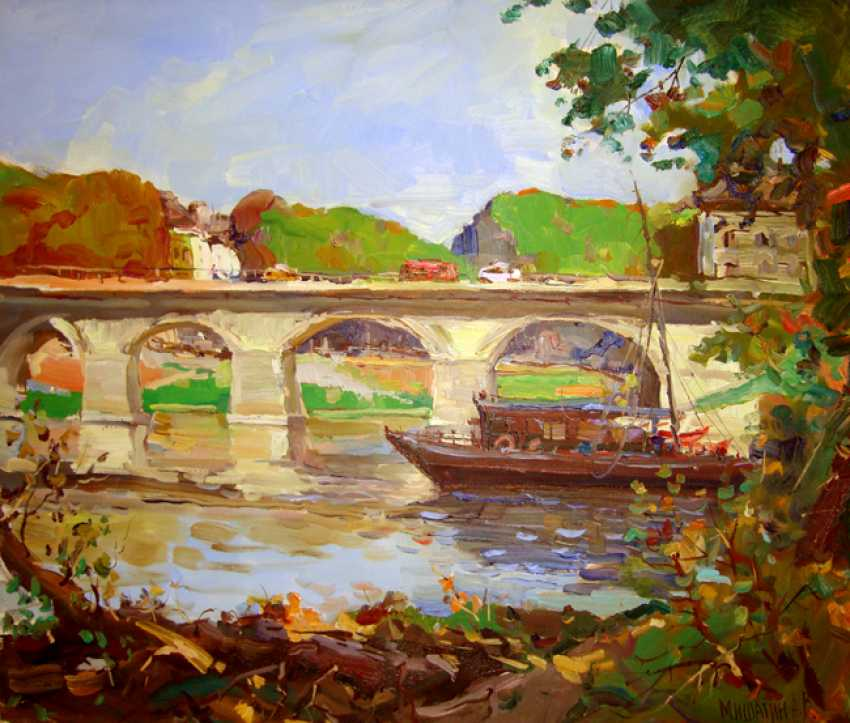 Andrey Mishagin. The bridge on the river Loire. France - photo 1