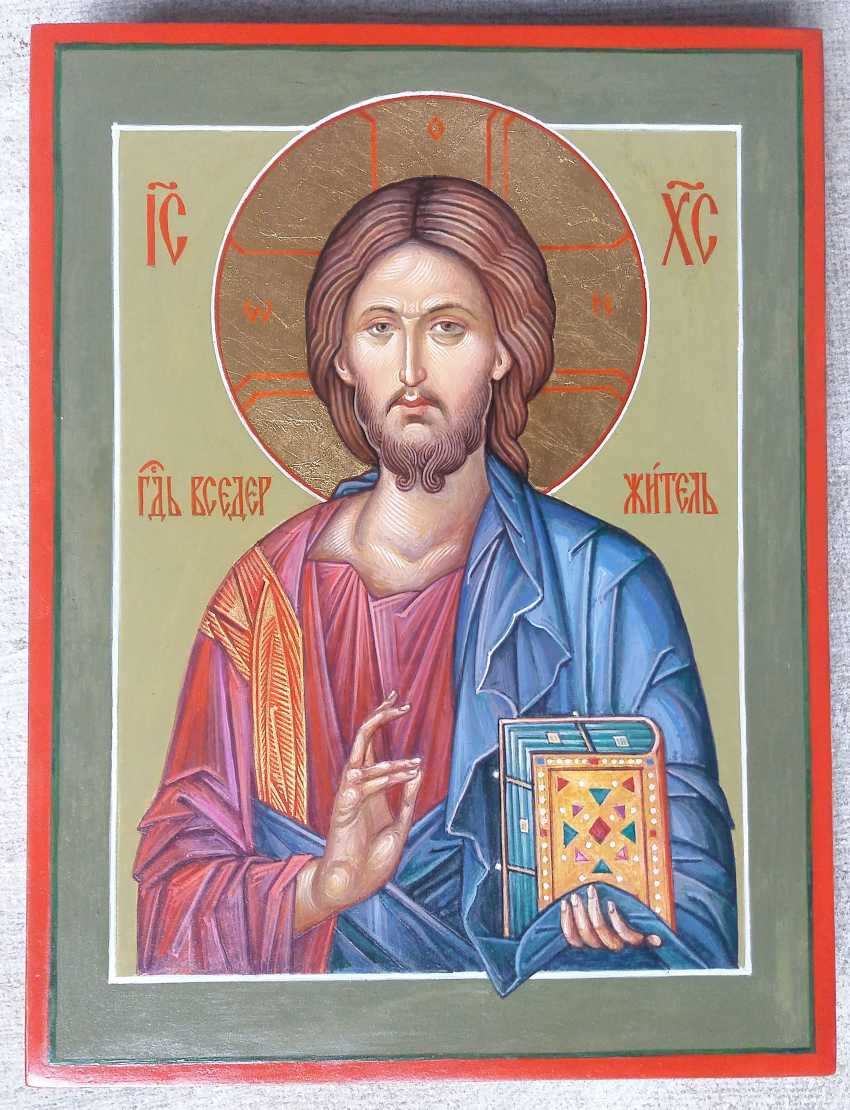 Slava Nikityuk. The Icon Of Jesus Pantocrator (Pantokrator). Savior. Jesus Christ. - photo 7