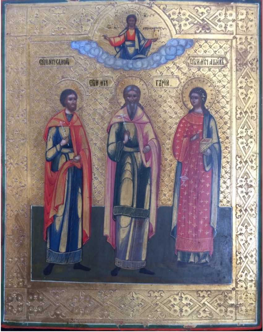 "Icon ""Saints Guri, Samon, Aviv"" - photo 1"