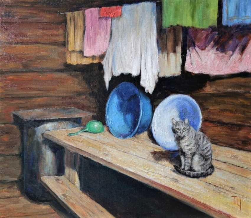 Татьяна Чепкасова. Банный кот. Серия «Деревенская мозаика» - фото 1