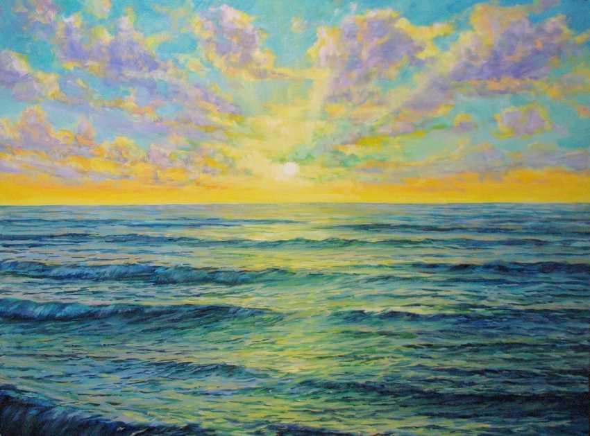Iryna Kastsova. Sunset on the sea - photo 1