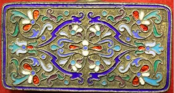 silver Snuff-box with enamels - photo 4