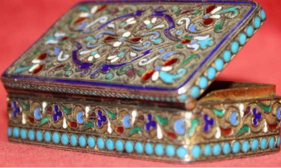 silver Snuff-box with enamels - photo 5