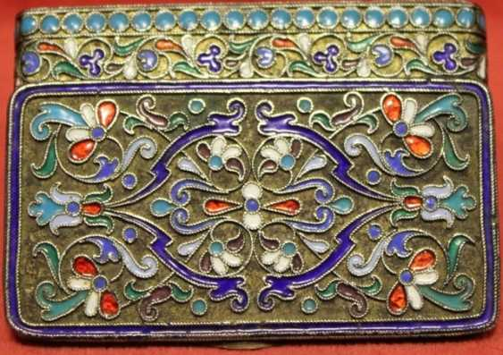 silver Snuff-box with enamels - photo 1