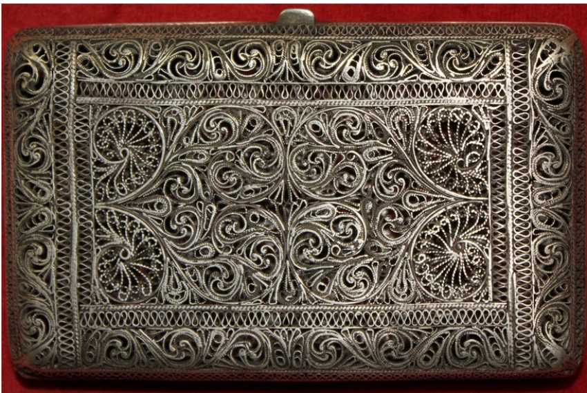 cigarette case Silver 875 - photo 3