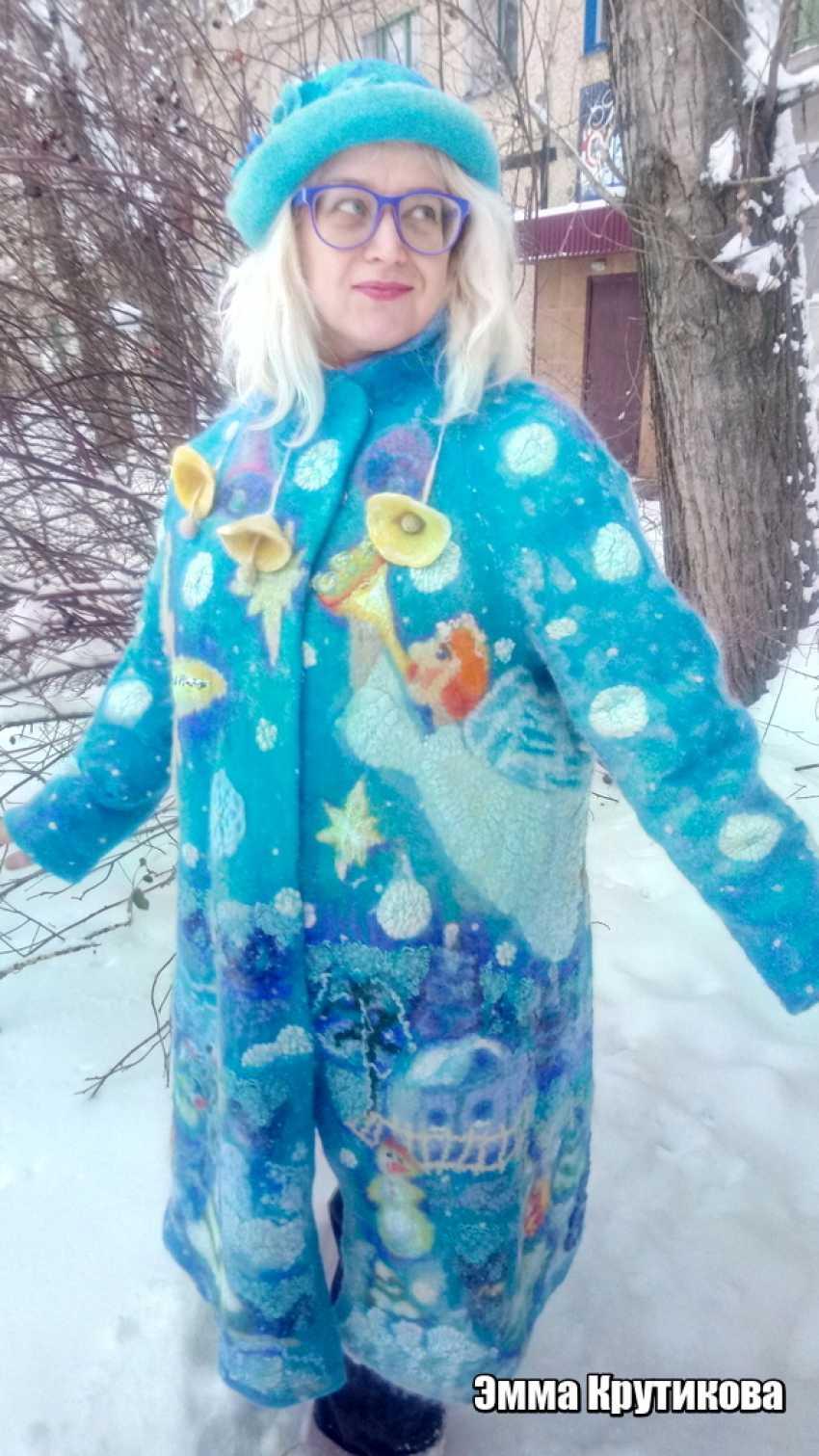 Emma Krutikova. Hat Winter roses - photo 4