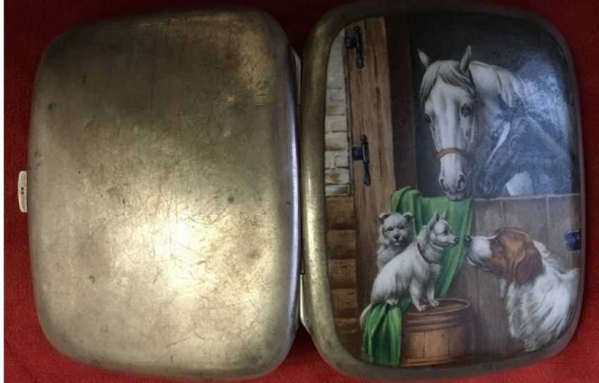 Cigarette case 19th century 800; enamel - photo 2