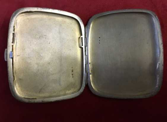 Cigarette case 19th century 800; enamel - photo 4