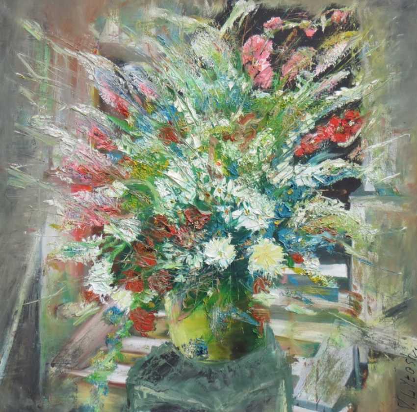Viktor Lytosh. Blumenstrauß auf der Veranda - Foto 1