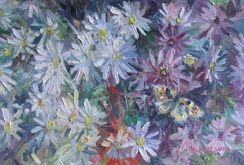 Irina Kruglova. Butterfly on the daisies - photo 1