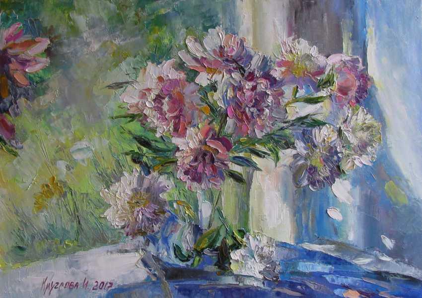 Irina Kruglova. Bouquet of peonies at the window - photo 1