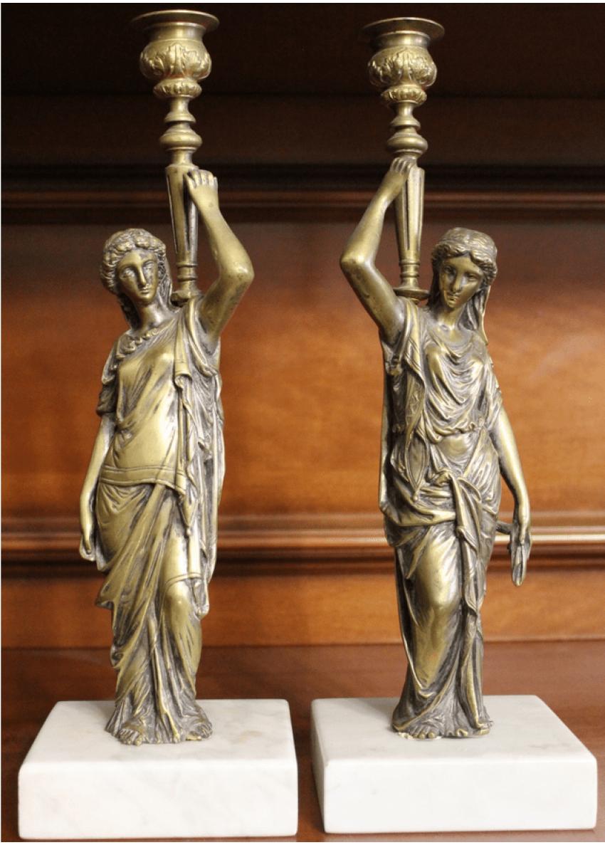 Pair of candlesticks Bronze - photo 1
