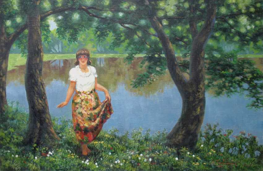 Alexander Bezrodnykh. The girl at the pond - photo 1