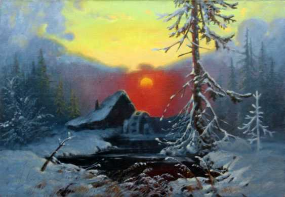 Alexander Bezrodnykh. Winter landscape with a mill - photo 1