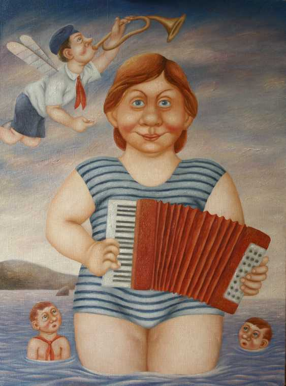 """Vladimir Safronov. """"The far shore of childhood, where the sounds of the accordion"""" - photo 1"""