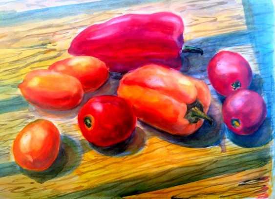 "Anelia Kuzmenko. Still life""nightshade"". Watercolor. 30x40 - photo 1"