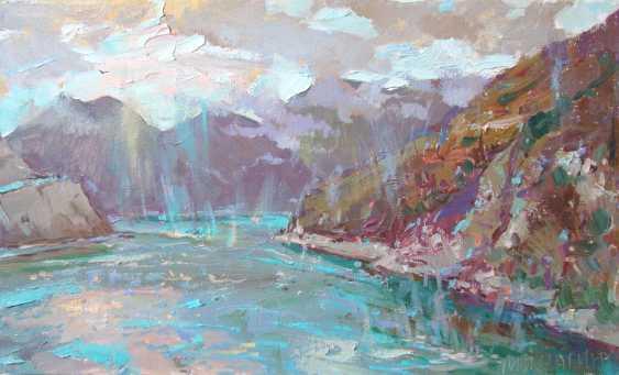 Andrey Mishagin. Rain over the lake - photo 1