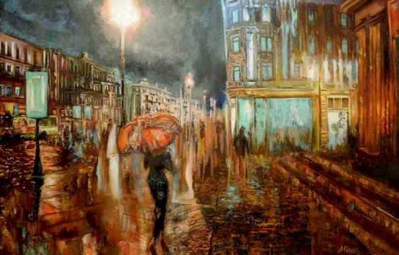 Alex Pelesh. Neon light the evening streets. - photo 1