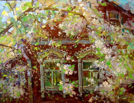 Andrey Mishagin. Flourished under the window a snow white cherry - photo 1