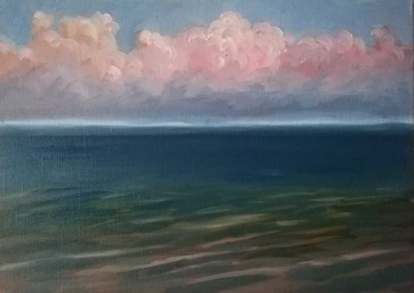 "Anastasiia Khaliova. ""Pink clouds over Baikal"" / ""Pink clouds over the lake"" - photo 1"