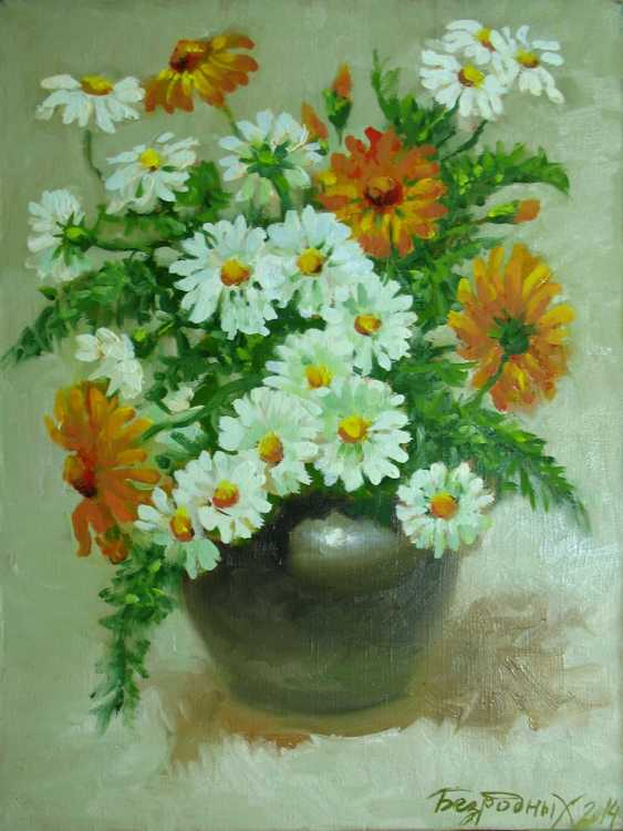 Alexander Bezrodnykh. bouquet with daisies - photo 1