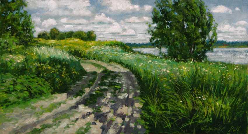 Alexander Bezrodnykh. road.lake - photo 1