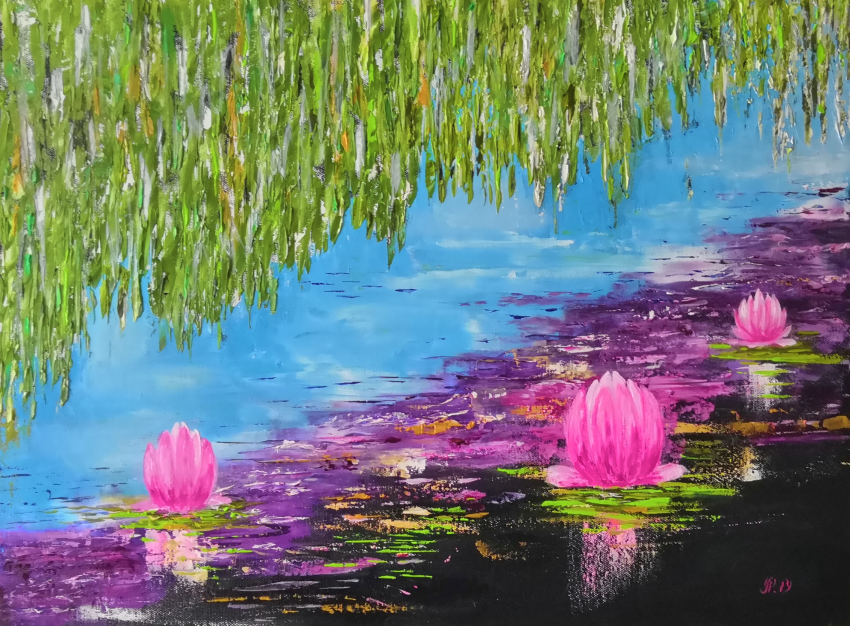 Ludmila Riabkova. Water lily Pink lotus Water lily - photo 1