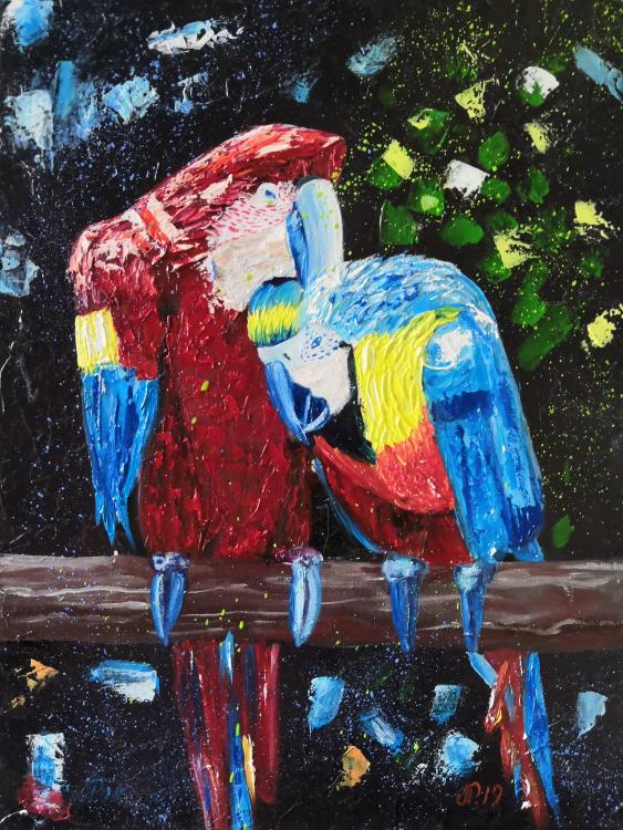 Ludmila Riabkova. Parrot painting Bird art - photo 1