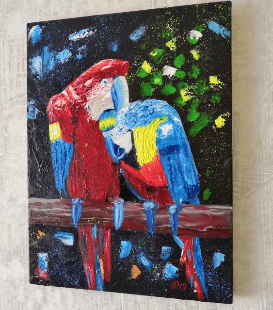 Ludmila Riabkova. Parrot painting Bird art - photo 2