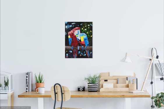 Ludmila Riabkova. Parrot painting Bird art - photo 3
