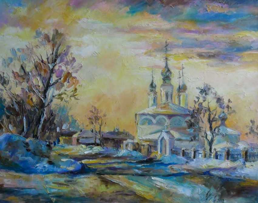Irina Kruglova. Sunset over the Archangel Church - photo 1