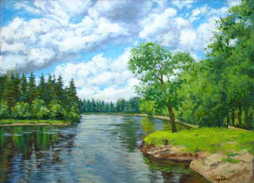 Alexander Bezrodnykh. river in the forest - photo 1