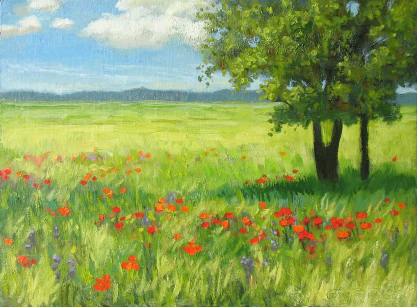 Alexander Bezrodnykh. Field. Flowers - photo 1