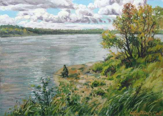 Alexander Bezrodnykh. la rivière,рыбачек - photo 1