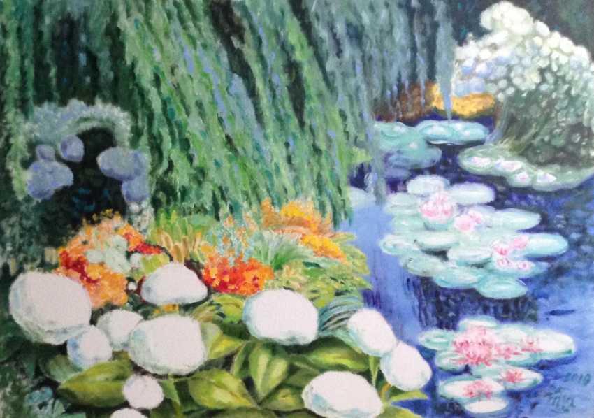 """Alla Senatorova. """"Teich mit weißen Blüten"""" - Foto 1"""
