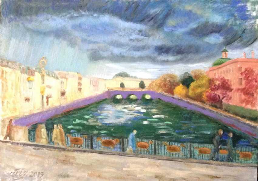 "Alla Senatorova. ""Herbsttag am Ufer des Flusses ""Fontanka"" . - Foto 1"